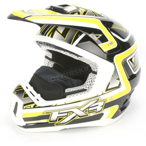 FXR Racing Yellow/Black Torque Helmet - 1340