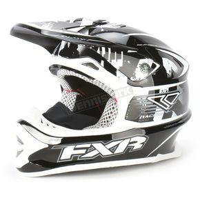 FXR Racing Black Strike Blade Super Lite Helmet - 1341