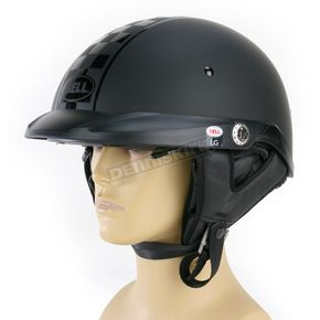 Bell Matte Black/Black Pit Boss Checkers Twin Tone Helmet - 2036639