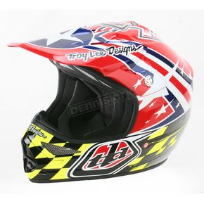 Troy Lee Designs Red Air Strike Helmet - 0113-2410