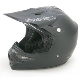 Troy Lee Designs Flat Black Air Midnight Helmet - 0113-4210