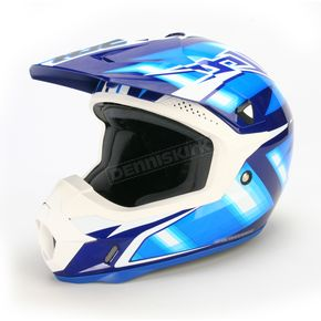 HJC White/Blue/Black Spectrum CL-X6 MC-5Helmet - 734-926