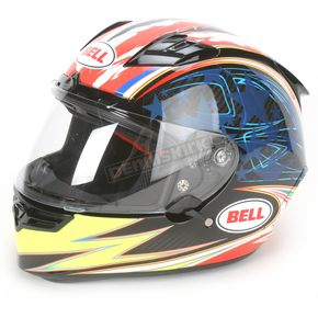 Bell Blue/Red/Yellow Airtrix Laguna Star Carbon Helmet - Convertible To Snow - 7021678