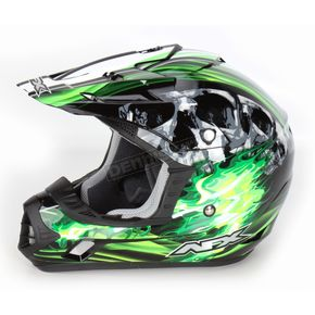 AFX Black/Green Multi FX-17 Inferno Helmet - 0110-3534