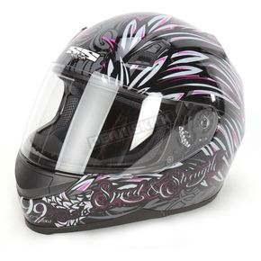 Speed and Strength Black/Pink To the Nines SS700 Helmet - 87-5987