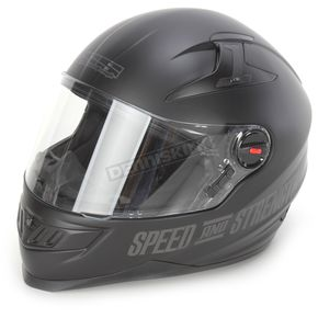 Speed and Strength Matte Black Under the Radar 2.0 SS1300 Helmet - 87-6448