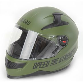 Speed and Strength Matte Green Under the Radar 2.0 SS1300 Helmet - 87-6453