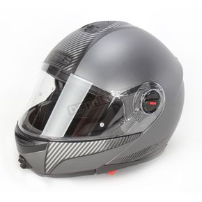 Speed and Strength Silver Carbon Lock and Load SS1700 Modular Helmet - 87-6468