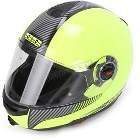 Speed and Strength Hi-Vis Green Lock and Load SS1700 Modular Helmet - 87-6473