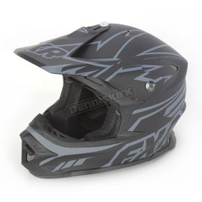 FXR Racing Black/Charcoal Racing Blade Super Lite Helmet - 14410