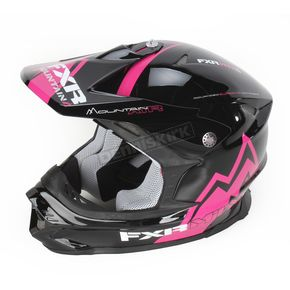FXR Racing Black/Fuchsia Mountain Air Blade Super Lite Helmet - 14411