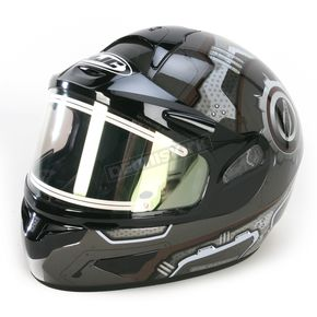 HJC Black/Gray/White CL-16SN Machine Helmet w/Electric Shield - 023-956