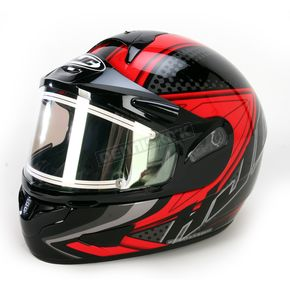 HJC Black/Red/Black CL-16SN Voltage Helmet w/Electric Shield - 119-916