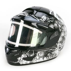 HJC Black/Black/White CL-16SN Virgo Helmet w/Electric Shield - 121-956