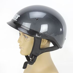 Speed and Strength Carbon Fiber Graphic Gray Solid Speed SS300 Helmet - 87-7186