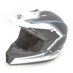 MSR Racing Black/White Assault Helmet - 359373