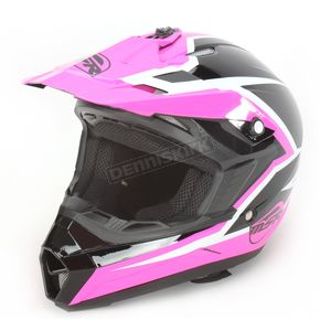MSR Racing Youth Pink/Black Assault Helmet - 359419