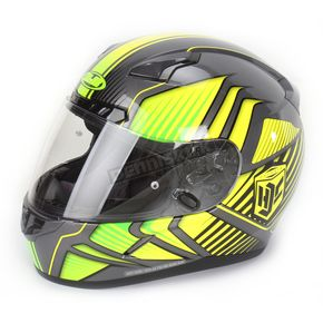 HJC Hi-Vis Yellow/Charcoal/Black MC-3H CL-17 Redline Helmet - 828-932