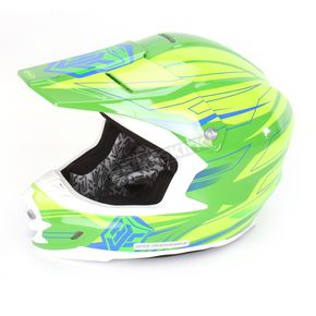 HJC Hi-Vis Green/Blue MC-4H FG-X Talon Helmet - 58-6242
