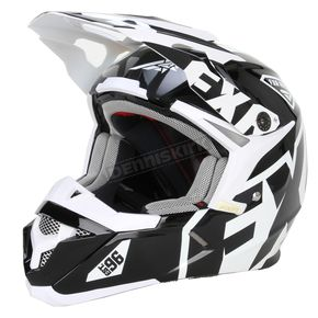 FXR Racing Youth Black/White X1 Helmet - 15401