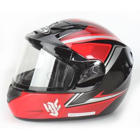 HJC Red/Black/Silver CS-R2SN MC-1 Seca Helmet with Framed Dual Lens Shield - 55-18714