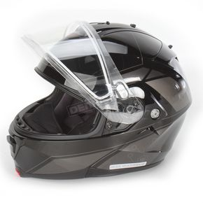 HJC Black/Dark Silver/Silver IS-MAX 2 MC-5 Elemental Helmet w/Dual Lens Shield - 58-13459