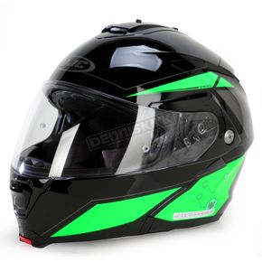 HJC Green/Black/Gray IS-MAX II MC-4 Elemental Modular Helmet - 58-3446