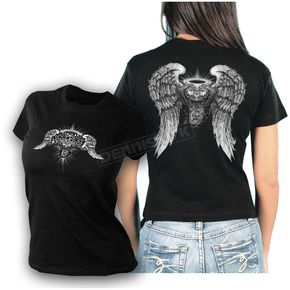 Hot Leathers Womens Asphalt Angel T-Shirt - GLD1040XXL