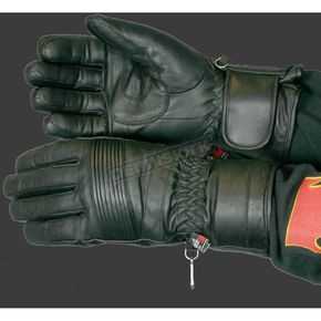 Hot Leathers Heavy-Duty Leather Gauntlet Gloves - GL205