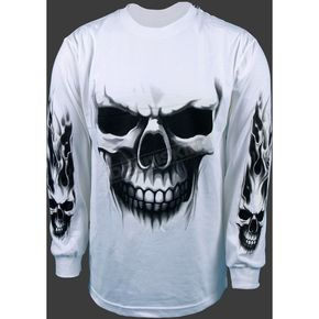 Hot Leathers Ghost Skull Long Sleeve T-Shirt - GSBL295