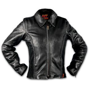 Hot Leathers Womens Leather Braid Detail Jacket - L635