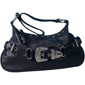 Leather Rhinestone Buckle Purse - PUA1018