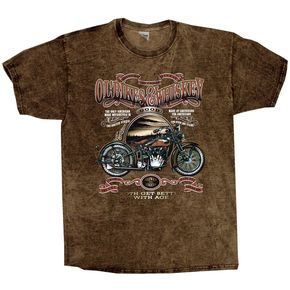 Hot Leathers Ol Bikes and Whiskey T-Shirt - GM06S136