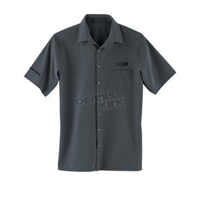 Embroidered Black Shirt - COLLARED