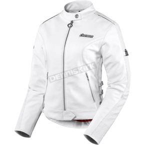 Icon Womens White Hella Leather Jacket - 2813-0450