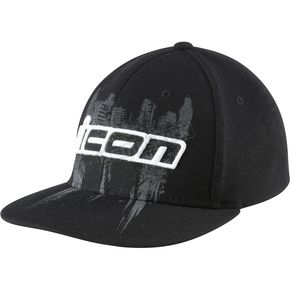 Icon Black Abrasion Flatbill Hat - 2501-1072