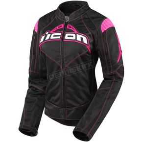 Icon Womens Black/Pink Contra Jacket - 2822-0367