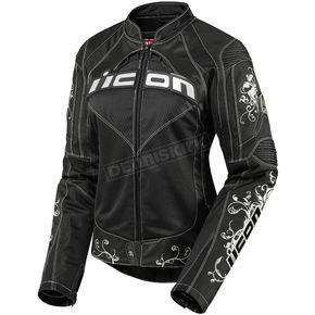 Icon Womens Black Contra Speed Queen Jacket - 2822-0377