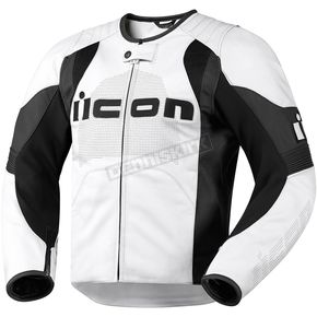 Icon White Overlord Leather Jacket - 2810-1890