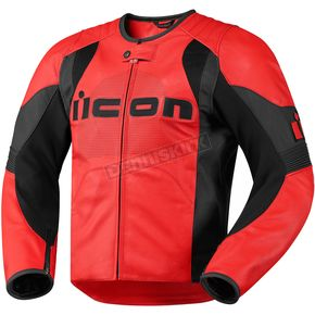 Icon Red Overlord Leather Jacket - 2810-1898