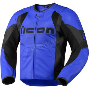 Icon Blue Overlord Leather Jacket - 2810-1902