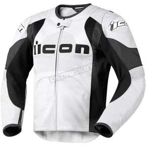 Icon White Overlord Prime Leather Jacket - 2810-1929