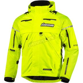 Icon Mil-Spec Yellow Patrol Waterproof Jacket - 2854-0022