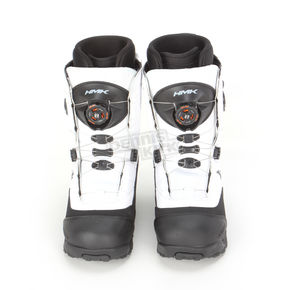 HMK White Team Focus Boots - HM910TDUALW