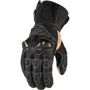 Icon Black Overlord Long Gloves - 3301-1488
