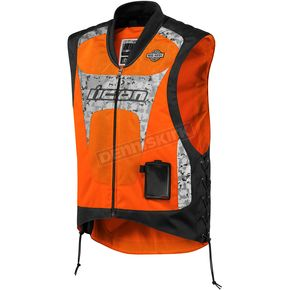 Icon Mil-Spec Orange Interceptor Reflective Vest - 2830-0189