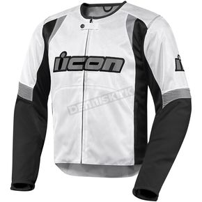 Icon White Overlord Nylon Jacket - 2820-1945