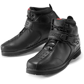 Icon Black Superduty 4 Boots - 3403-0183