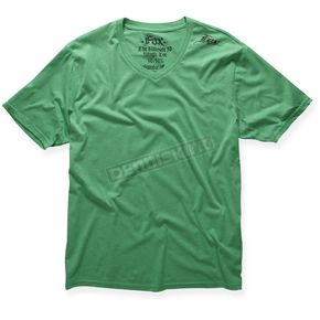 Fox Heather Green VIP V-Neck T-Shirt - 37676