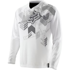 Fox Womens White Switch Geo Jersey - 02314